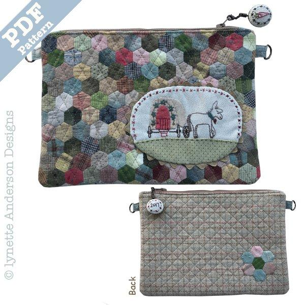 Little Donkey Zippered Pouch - downloadable pattern