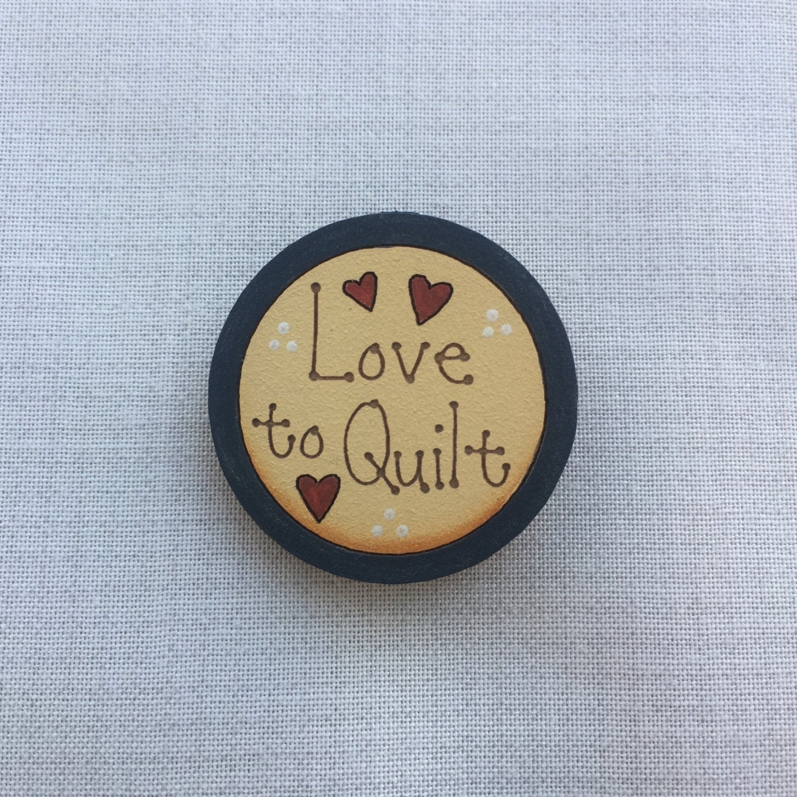 Little Quilt Of Love.Love To Quilt Brooch
