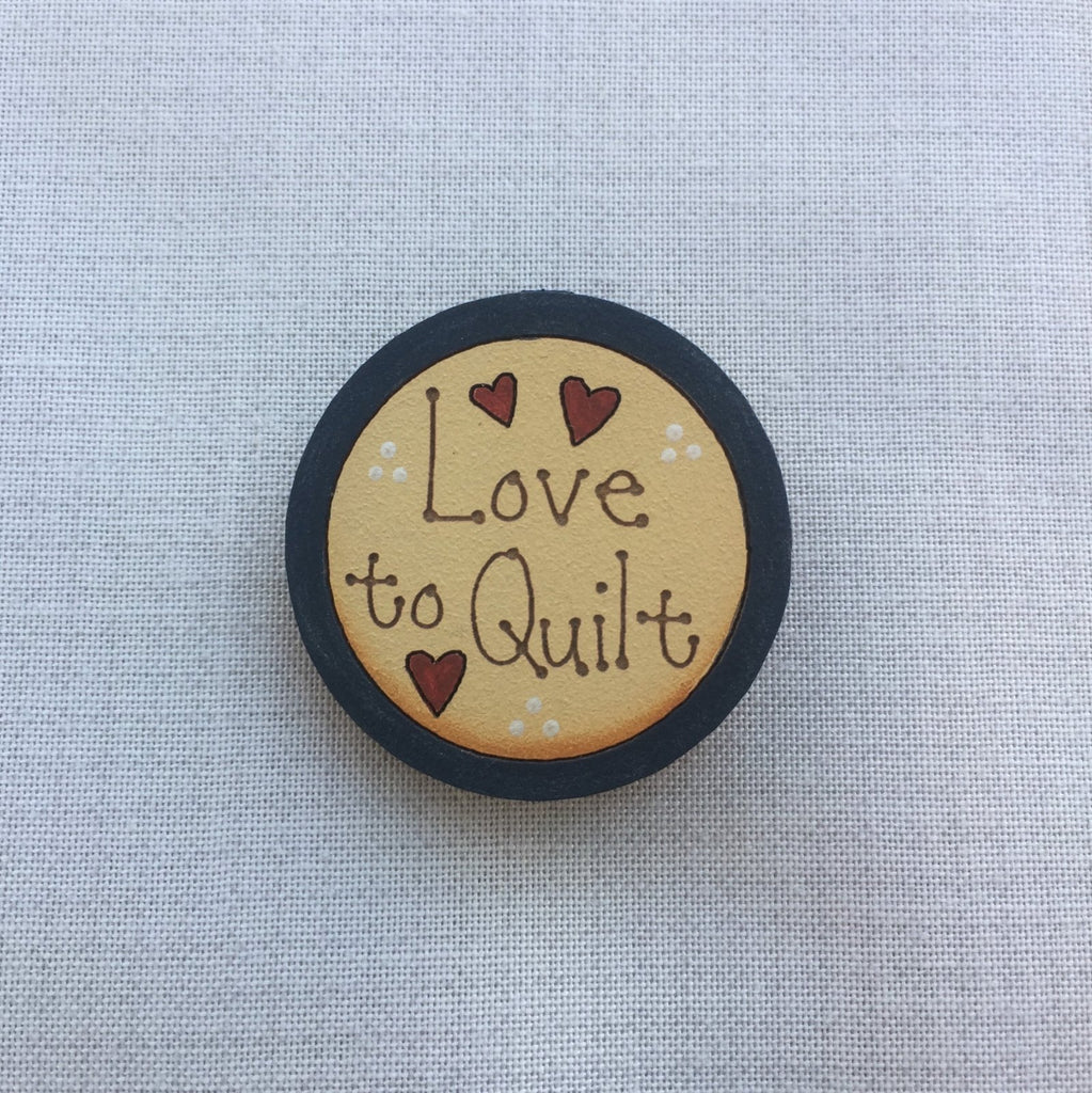 Brooch - Love to Quilt