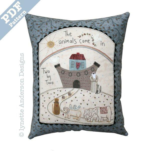 Noah's Ark Pillow - downloadable pattern
