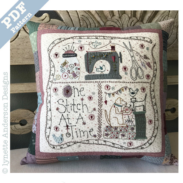 One Stitch at a Time Pillow - Downloadable pattern