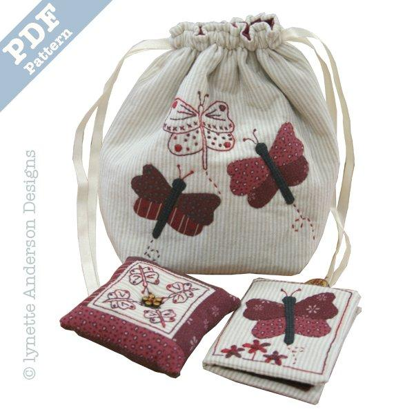 Butterfly Sewing Set - Downloadable pattern