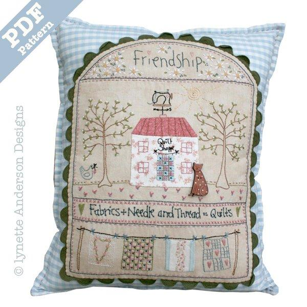 Quilt Shoppe Pillow - Downloadable pattern