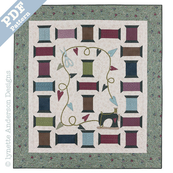 Scissor, Spools and Thread Quilt - download pattern