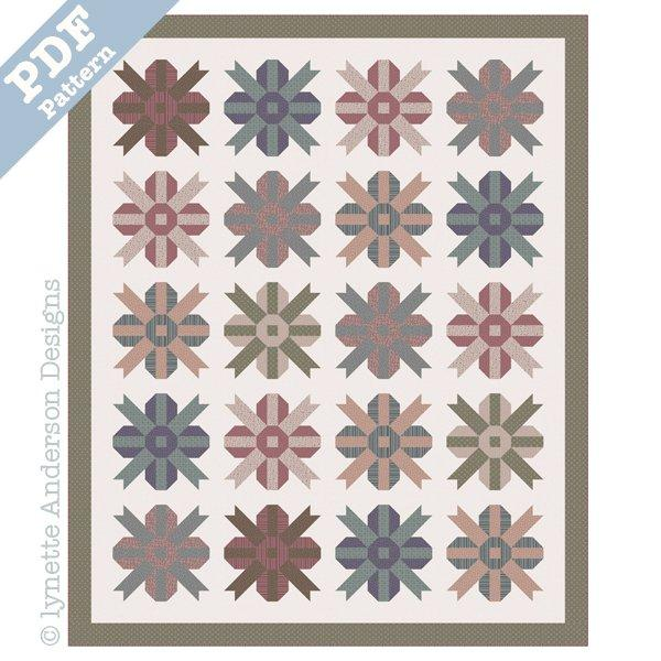 Summer Blossom Quilt - downloadable pattern
