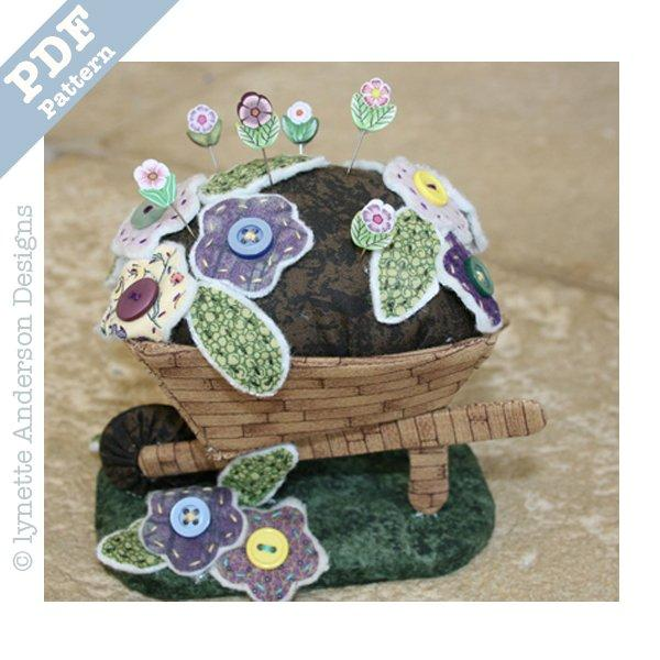 Wheelbarrow Pincushion - Downloadable pattern