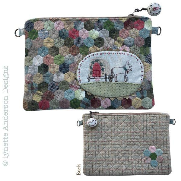 Little Donkey Zippered Pouch - pattern