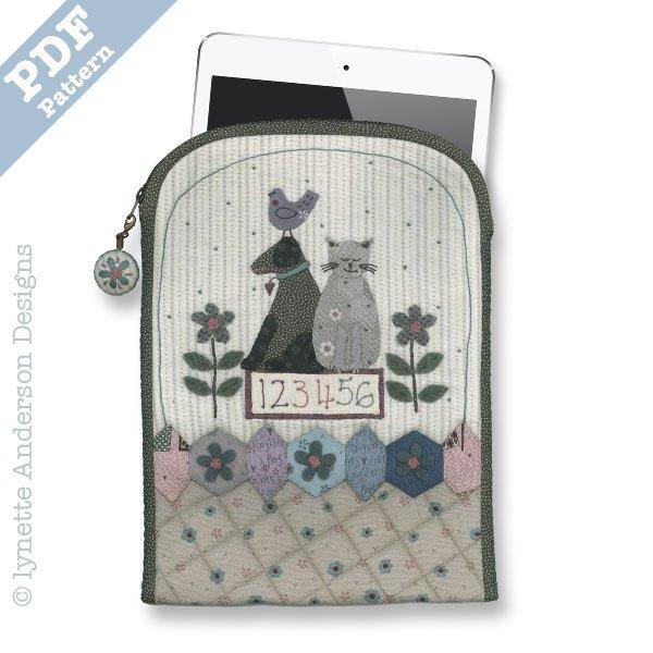 Garden Friends Tablet Cover - Downloadable Pattern