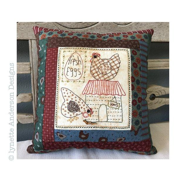 Hens Live Here Pillow - pattern