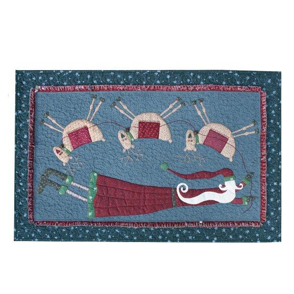 Flying Santa Tablerunner - pattern