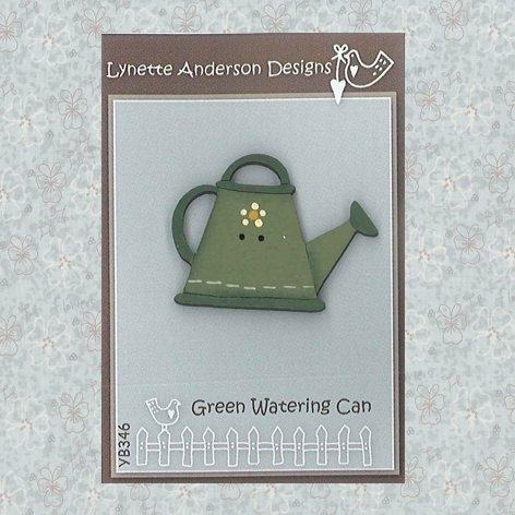 Green Watering Can Button