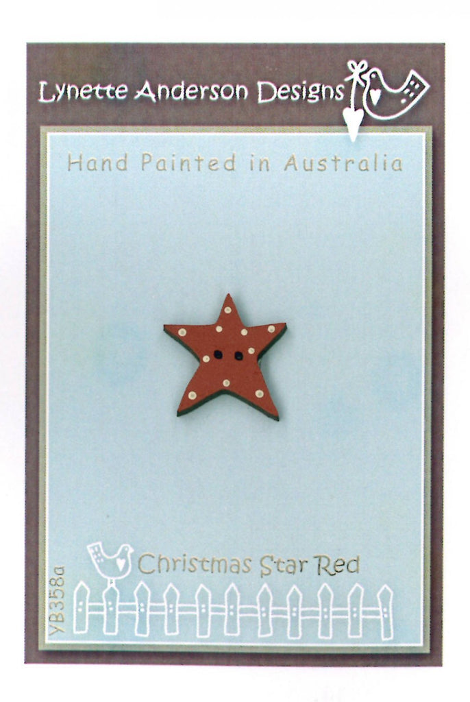 Christmas Star Button Red