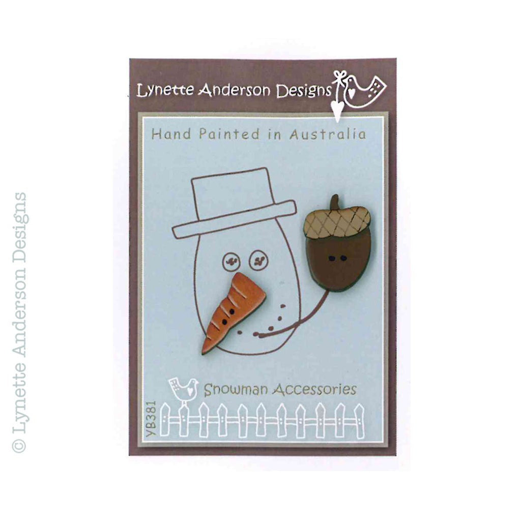 Snowman Accessories Button