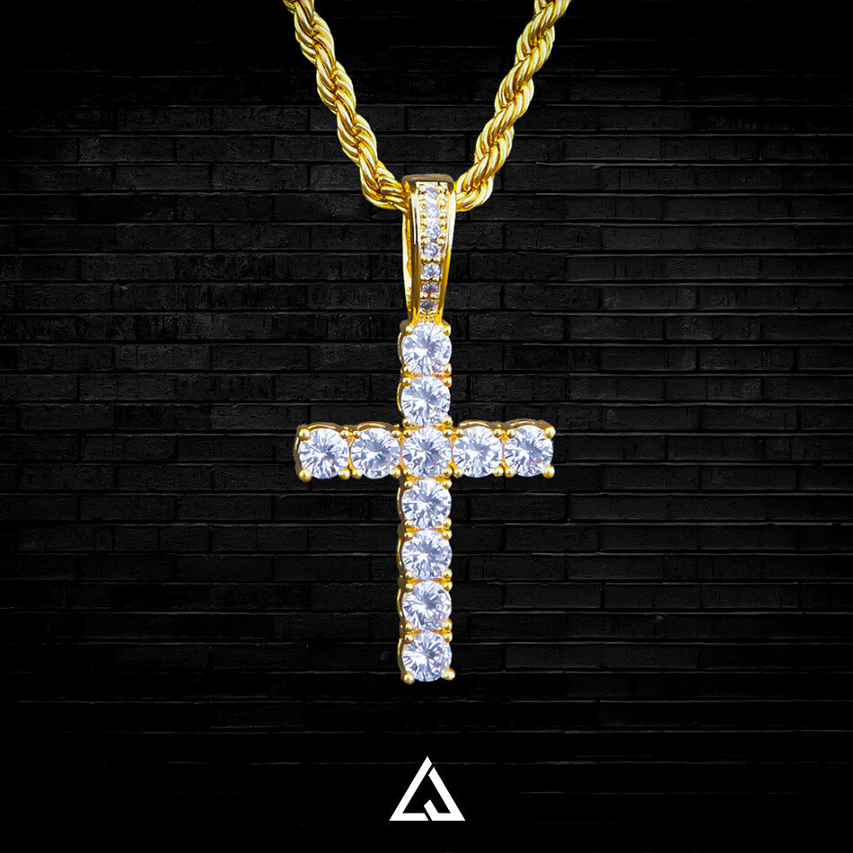 DIAMOND CROSS PENDANT - Lujoure