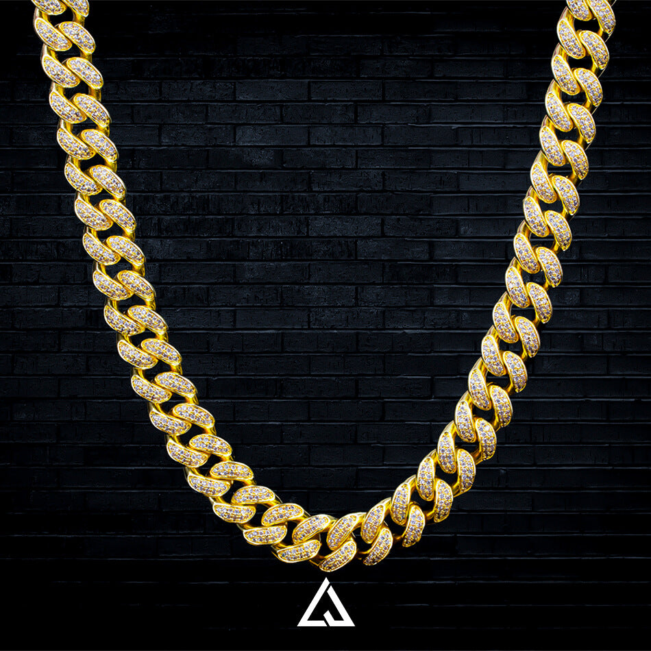 (14MM) ICED OUT CUBAN CHAIN - Lujoure