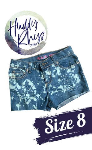 RTS Bleached Girls Shorts size 8