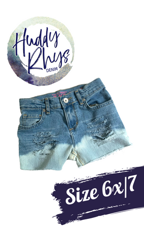 RTS Bleached Girls Shorts size 6x/7