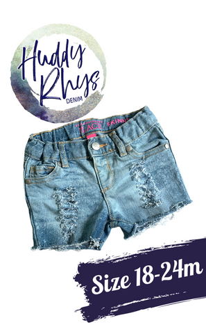 RTS Bleached Girls Shorts size 18-24m