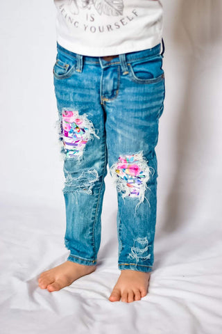 Hello Spring Floral Jeans