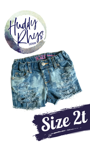 RTS Bleached Girls Shorts size 2t