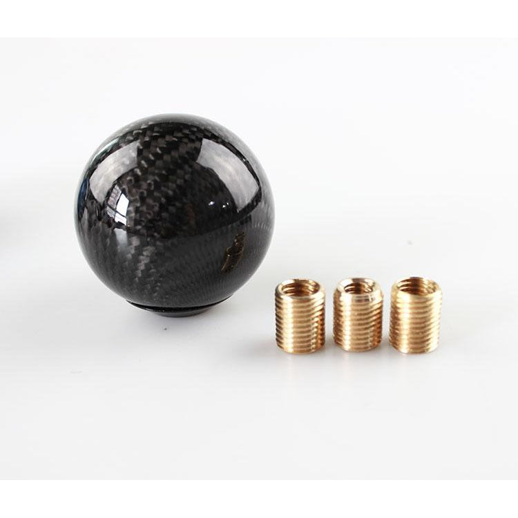 Weighted Carbon Fiber Shift Knob (3 ADAPTERS INCLUDED!)-Import Mods-Black-Import Mods