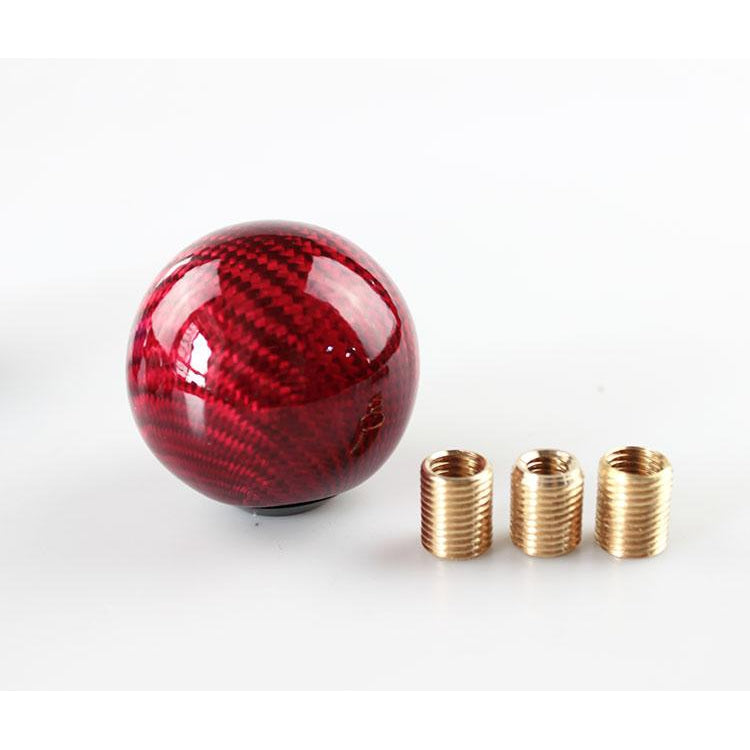 Weighted Carbon Fiber Shift Knob (3 ADAPTERS INCLUDED!)-Import Mods-Red-Import Mods