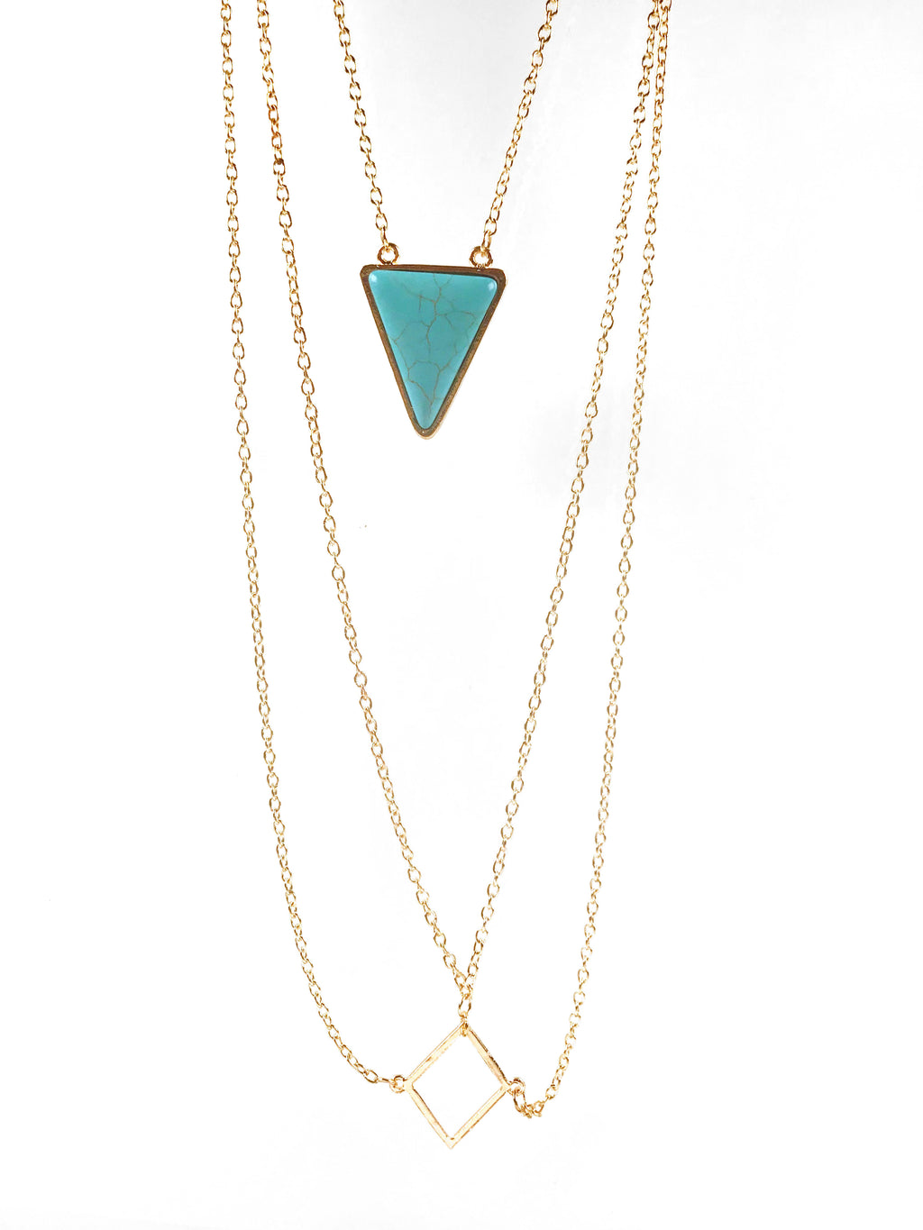 Body Chain Gold Turquoise