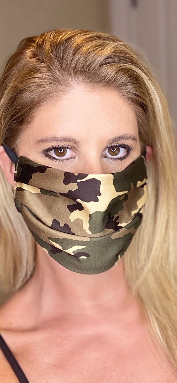 Green Camo Face Masks