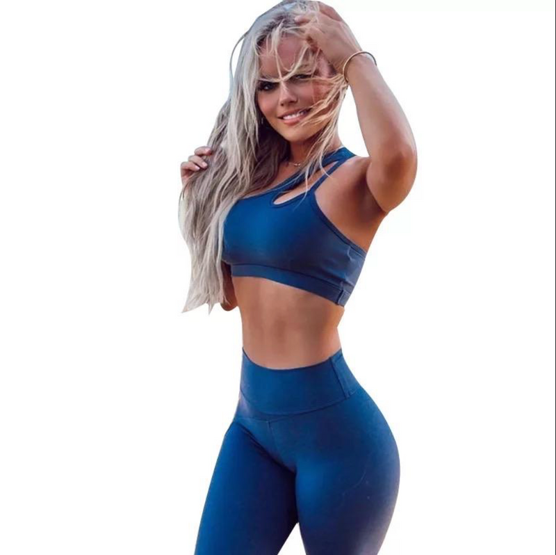 Blue Activewear BOTTOM ONLY