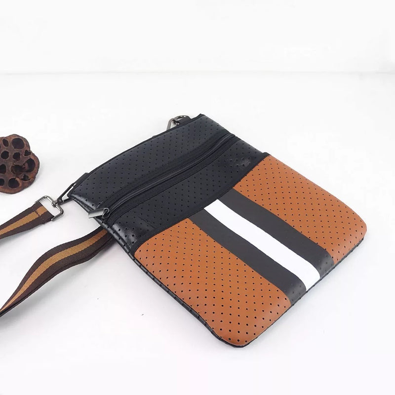 Brown with Black Crossbody