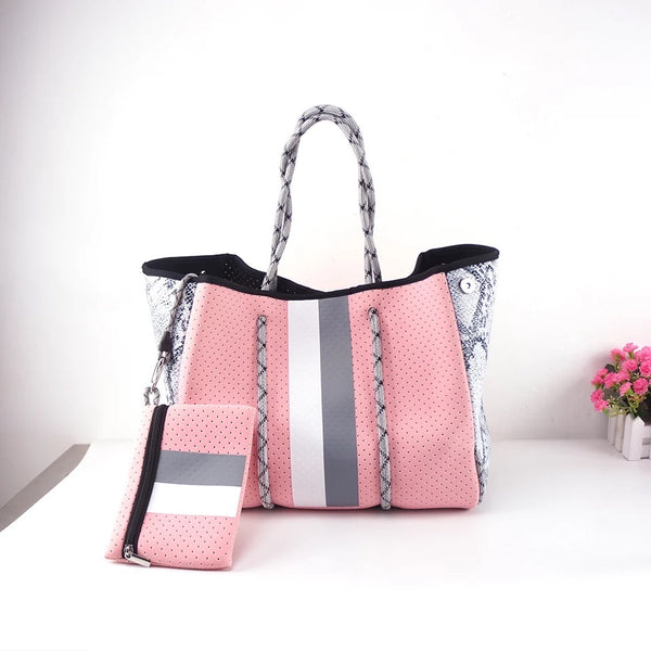 Large Pink Tote with removable small bag