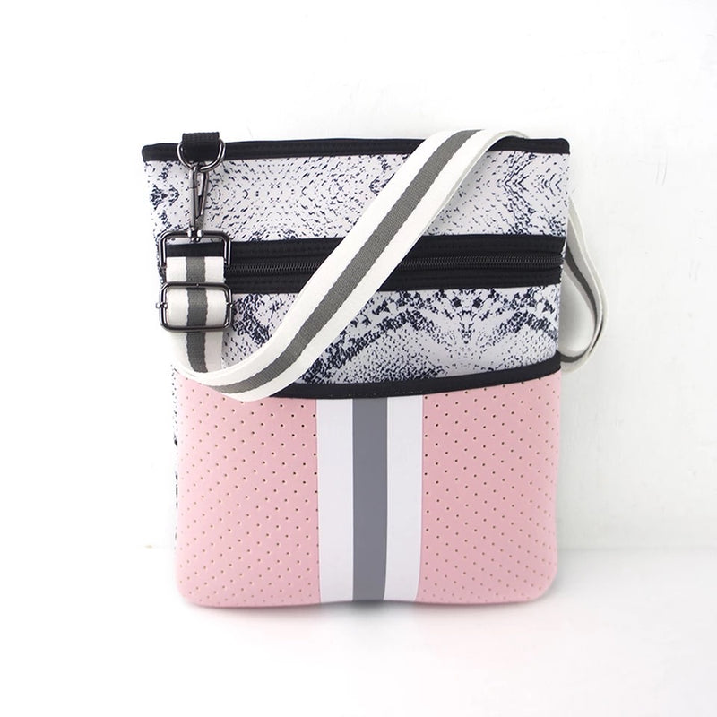 Pink and Grey Crossbody