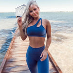 Blue 2 piece workout wear