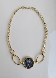 Aria Chain Wrap Bracelet Necklace Caesar Coin