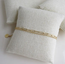Load image into Gallery viewer, Petite Modern Double Chain Bracelet