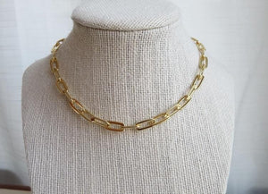 Elliptical Chain Necklace