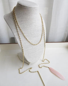 Feathered Bar Necklace