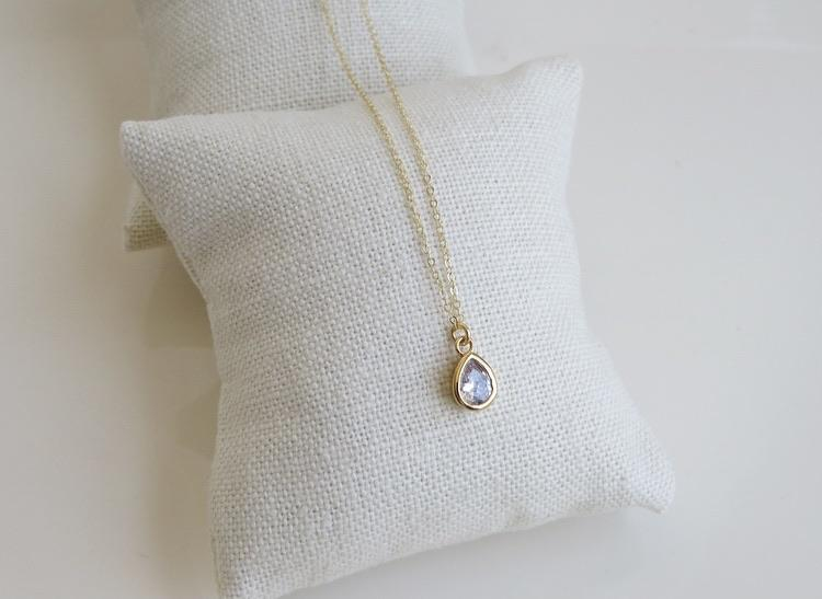 Drop Diamond Necklace
