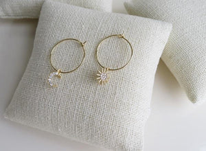 Sun & Moon Hoop Earrings