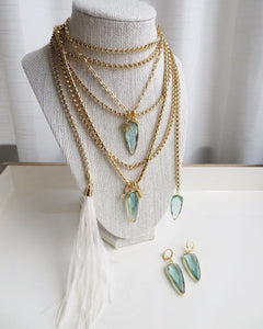 Crystal & Feather Wrap