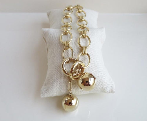 Ballon d'Or Elegant Oval Link Signature Necklace