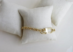 Petite Locked in Love Clasp Anklet
