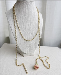Rose Wrap Necklace