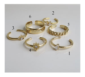 Gold Plated Stack'em Rings