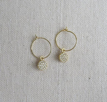 Load image into Gallery viewer, Mini Pave Pendant Earrings