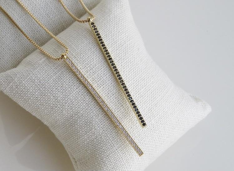 Diamond Vertical Bar Necklace