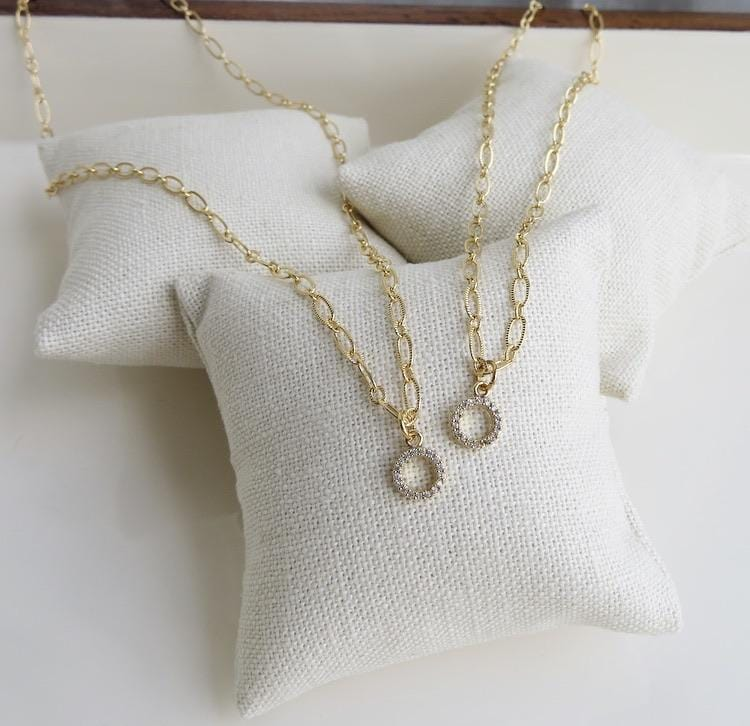 Mini & Me Pave Pendant Necklaces