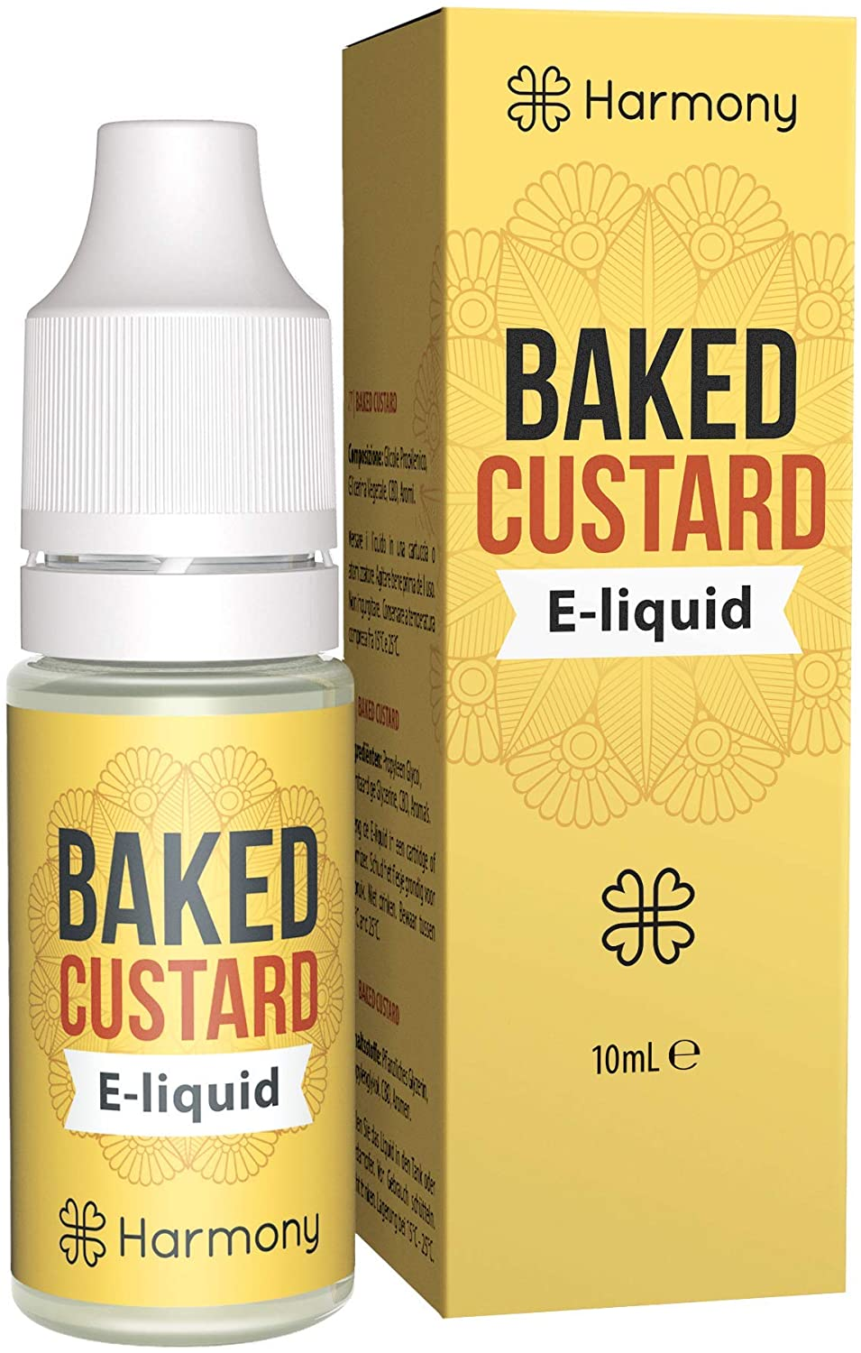 Harmony CBD Baked Custard E-Liquid 10ml