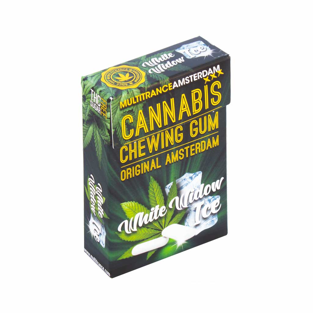 Cannabis White Widow Ice Chewing Gum (Zucker Frei)