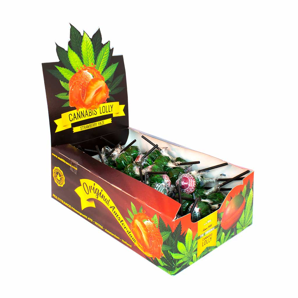 Cannabis Strawberry Haze Lollies